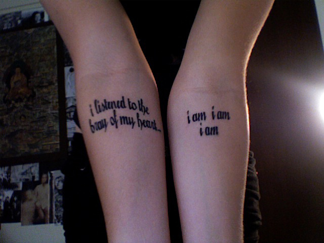 Tattoo Ideas: Quotes on Life undergrads with quotes tattooed on their