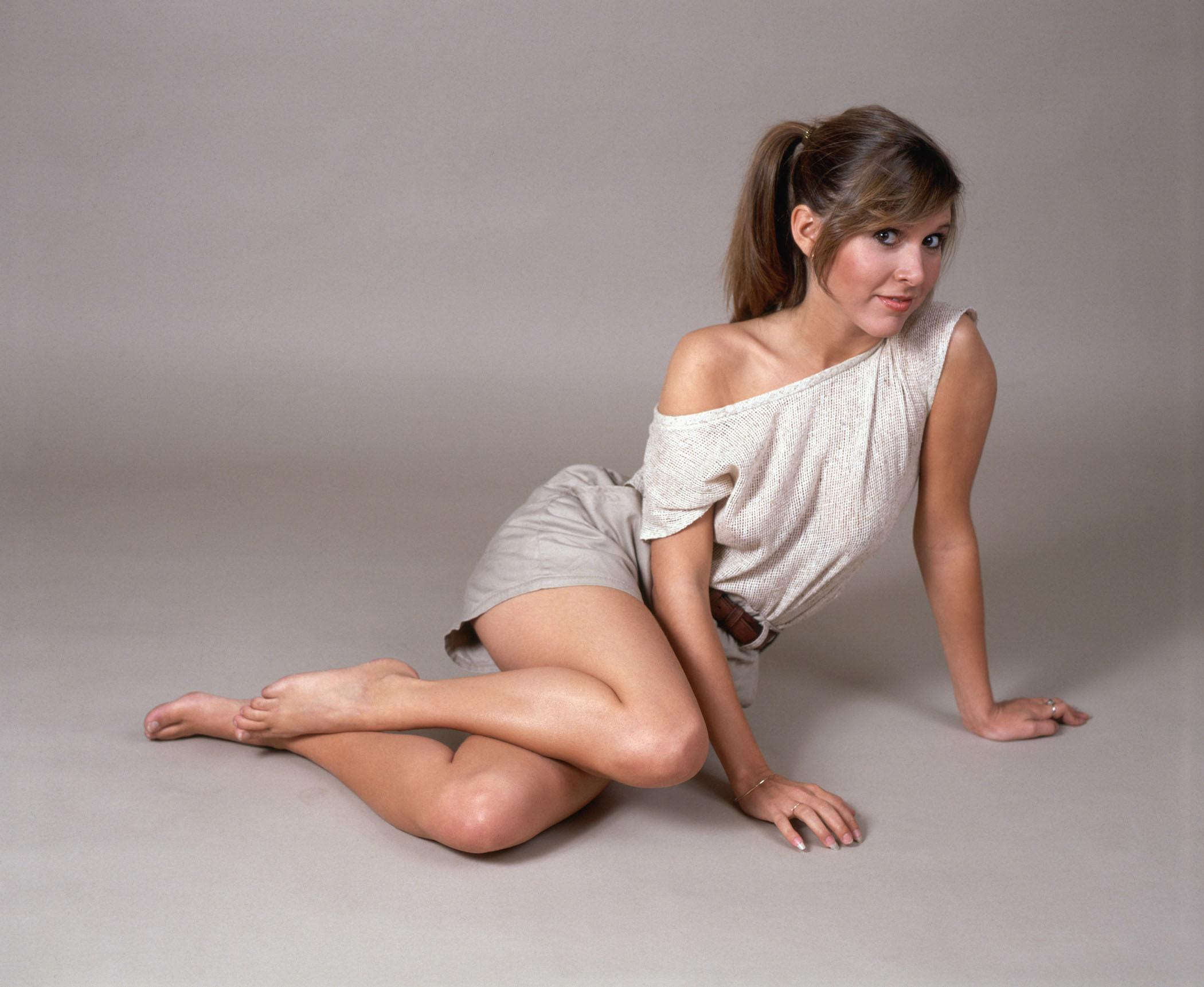 carrie fisher gold