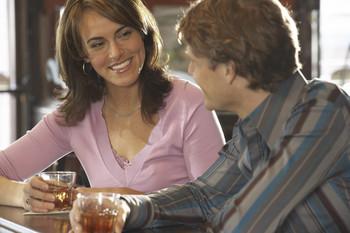 Flirt menn smiler